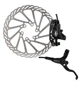 CLARKS BICYCLE COMPLETE HYDRAULIC DISC BRAKE SET CLARK CLOUT-1 HYD F&R w/LVR 160 BK