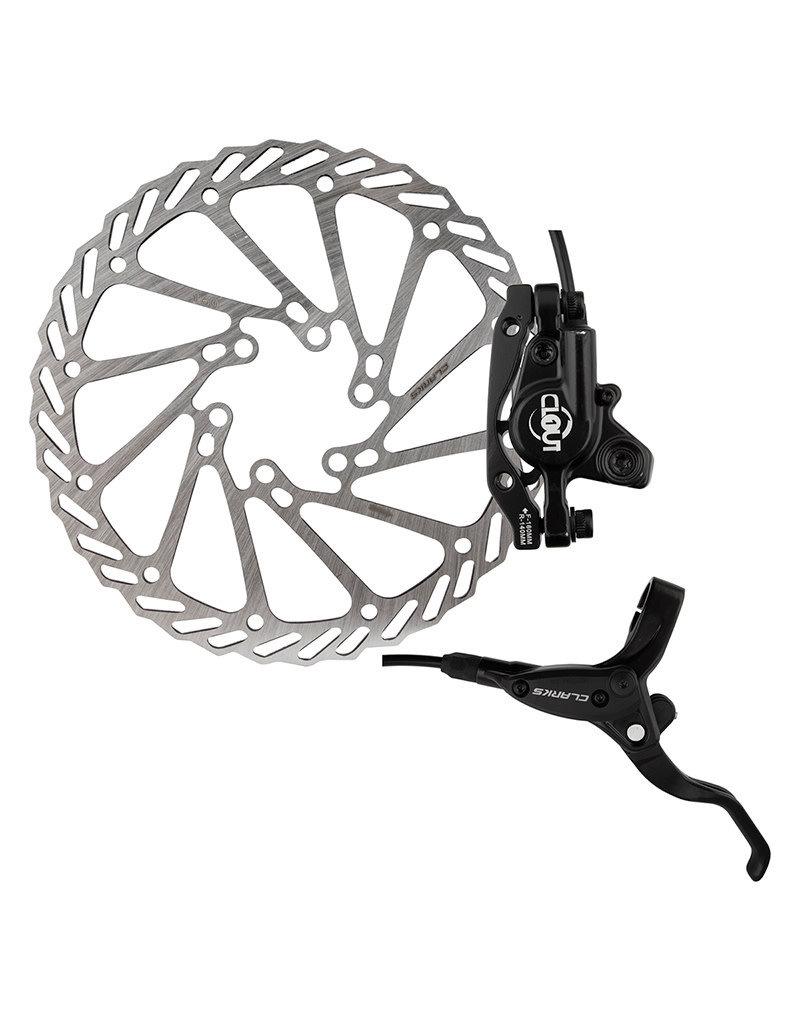 CLARKS BICYCLE COMPLETE HYDRAULIC DISC BRAKE SET CLARK CLOUT-1 HYD F&R w/LVR 160 BK