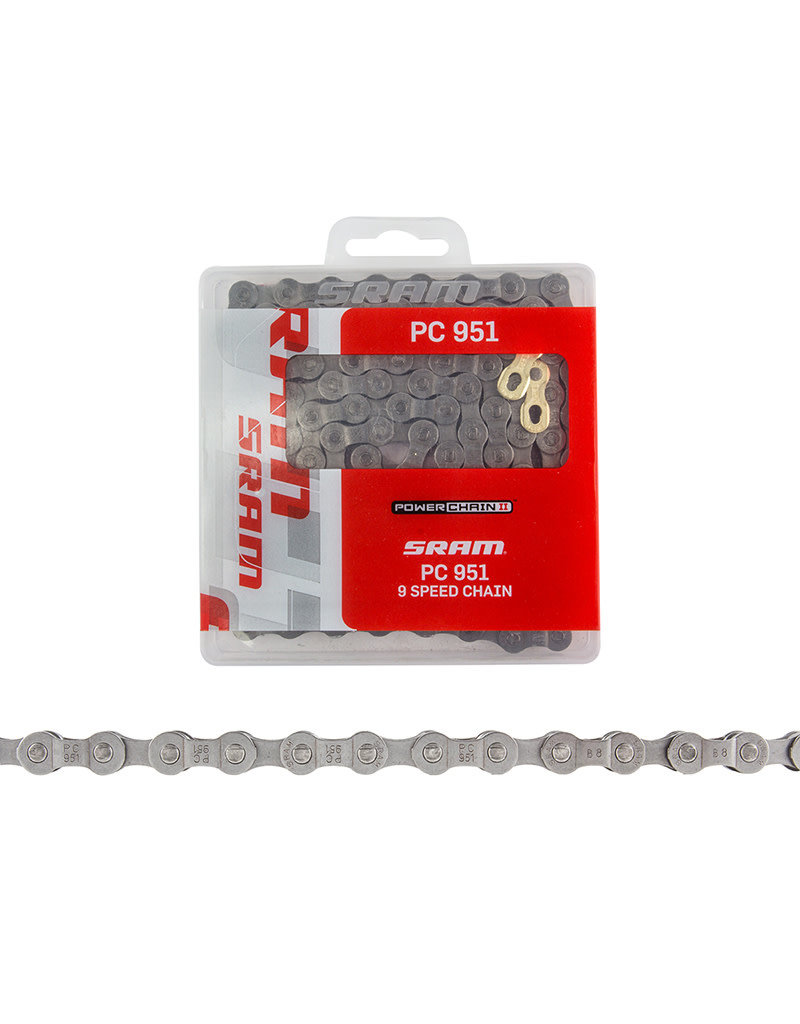 SRAM SRAM PC951 Bicycle Chain 9 Speed 114 Link