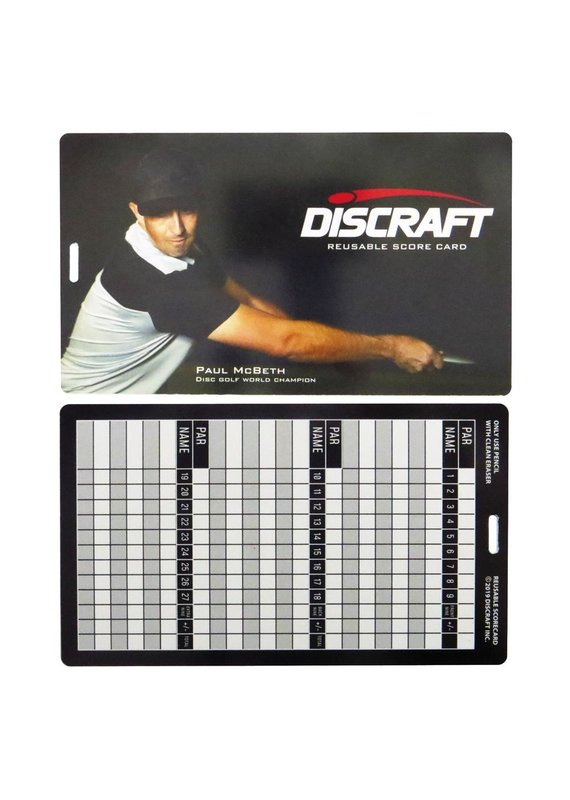 Discraft Discraft Erasable Disc Golf Scorecard