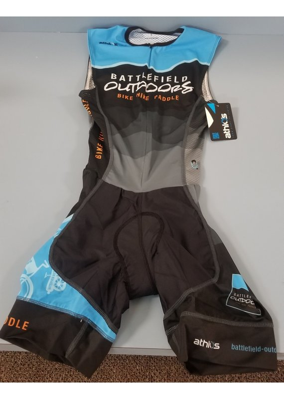 Athlos Battlefield Outdoors Mens Chronos Tri Suit Sleeveless