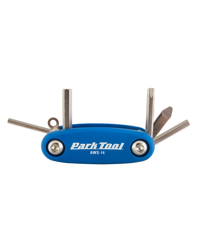 Park Tool Park Tool, AWS-14, Mini folding hex and Torx wrench set, 3mm, 4mm, 5mm, T25 and a combo screwdriver