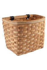 SUNLITE SUNLITE FRONT BICYCLE BASKET WOOD/BEECH NATURL WOVEN w/STRAPS