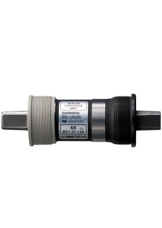 Shimano SHIMANO CARTRIDGE BOTTOM BRACKET, BB-UN26 AXLE 127.5MM, SHELL:BS