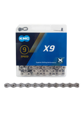 KMC KMC X9 Bicycle Chain 9 Speed 116 Link