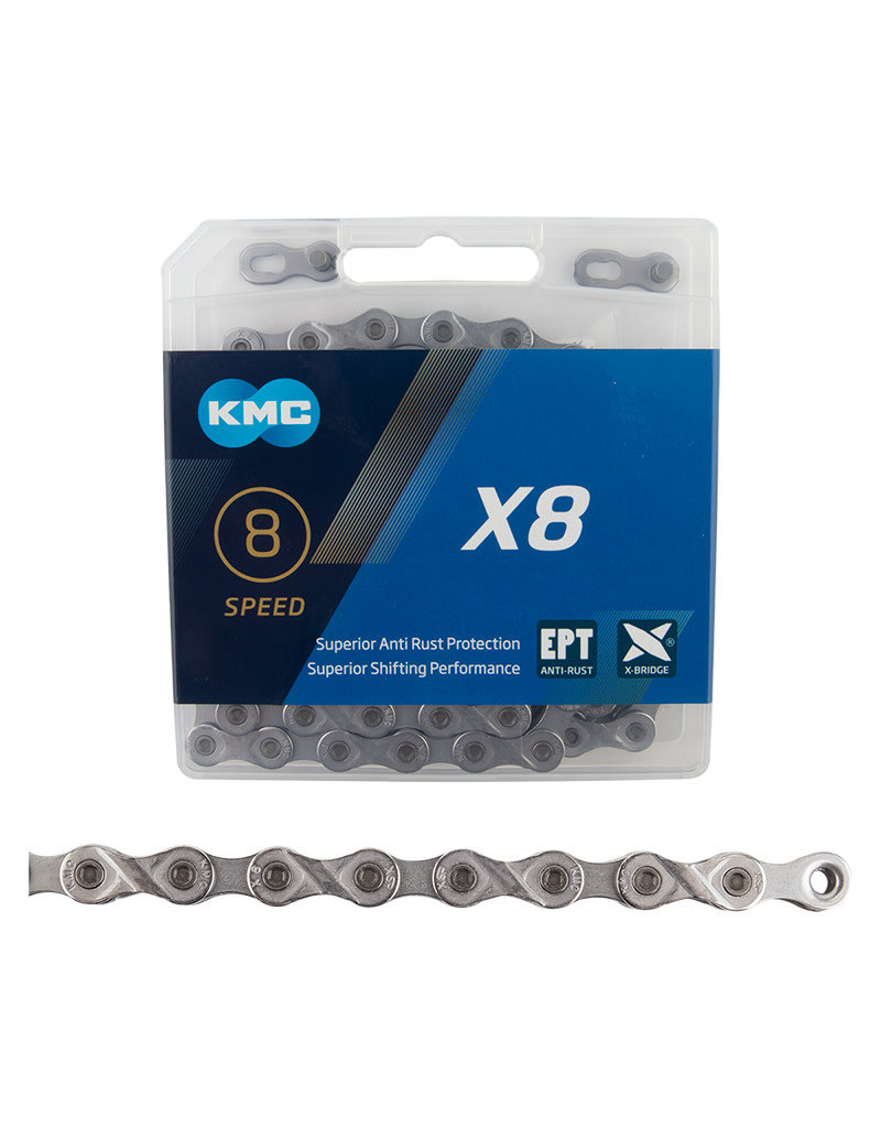 KMC KMC X8 6/7/8 Speed EcoProTeq Silver 116L Chain