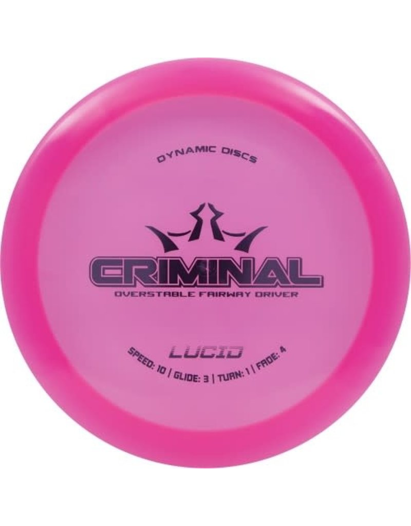 Dynamic Discs Dynamic Discs Lucid Criminal Overstable Fairway Driver Golf Disc