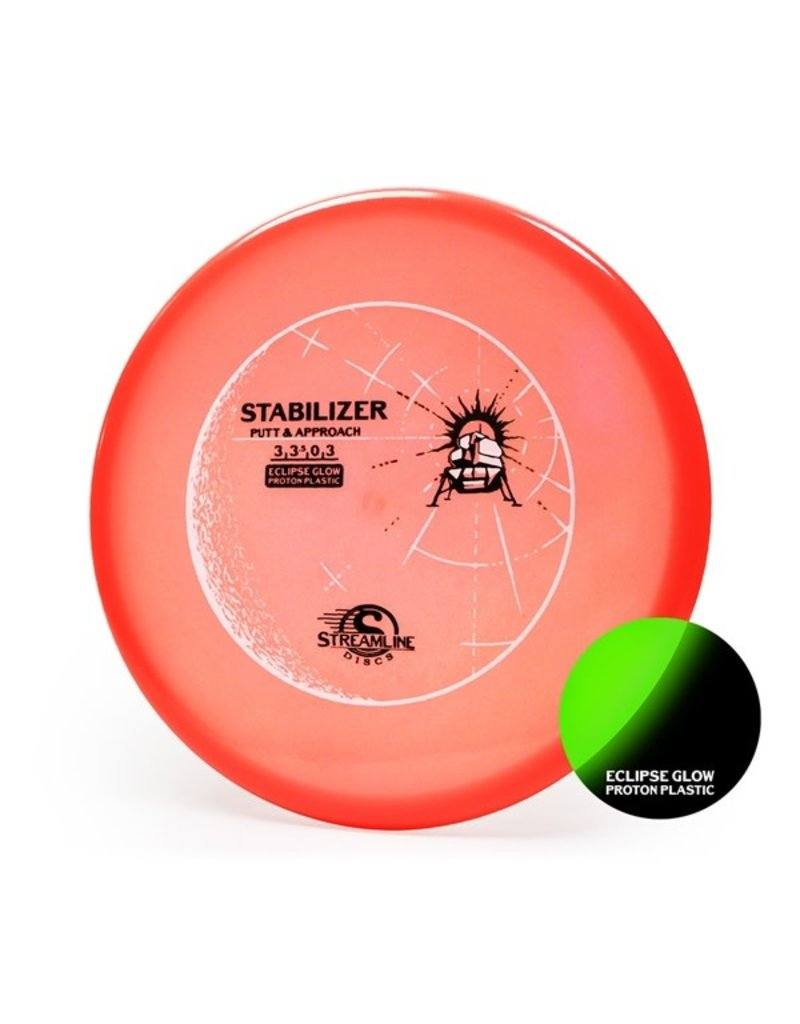 Streamline Discs Streamline Discs Eclipse Glow Stabilizer Proton Putt and Approach Golf Disc