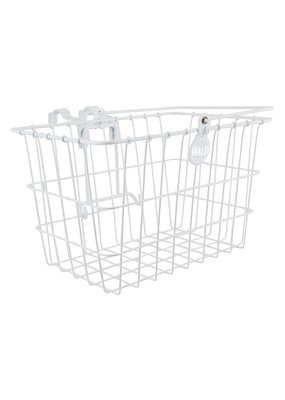 WALD 3133 LIFT-OFF FRONT BICYCLE BASKET 14x9x9WH WITH ATTACHMENT BRACKET
