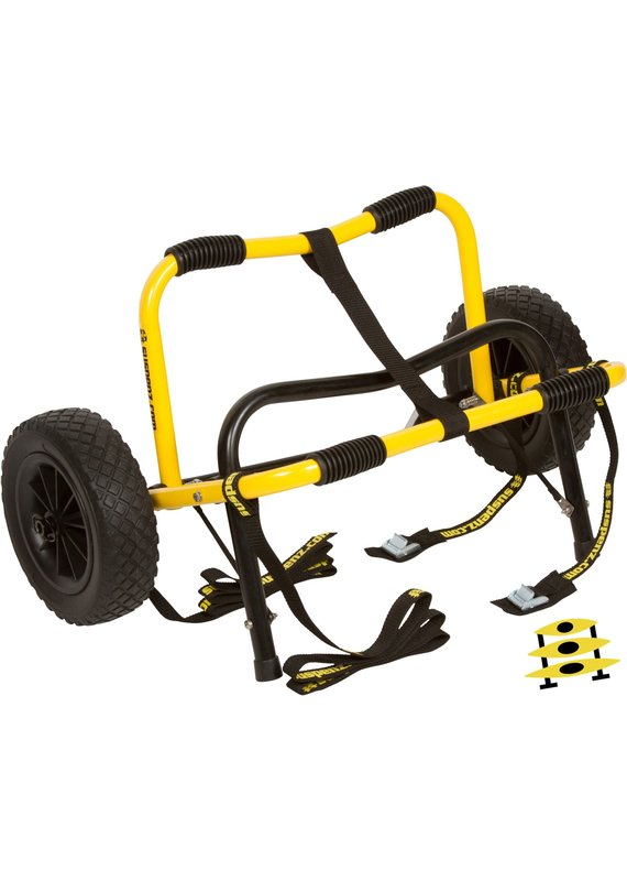 Suspenz Heavy Duty Airless Kayak Canoe Dolly Cart