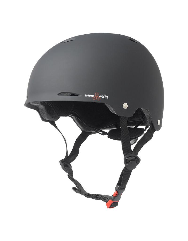Bicycle/Skate HELMET TRIPLE 8 GOTHAM DUAL CERT LG-XL w/ Rear Adjustment Black
