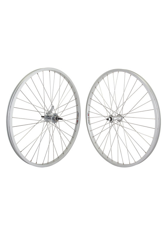 Wheel Master Cruiser/Comfort Bike Coaster Brake Alloy Wheel Set26x1.75 559x25 Bolt On 3/8 Silver