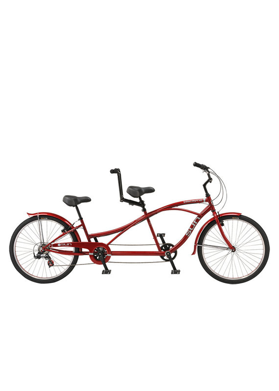 SUN BICYCLES SUN BISCAYNE TANDEM BICYCLE  7SPEED Red