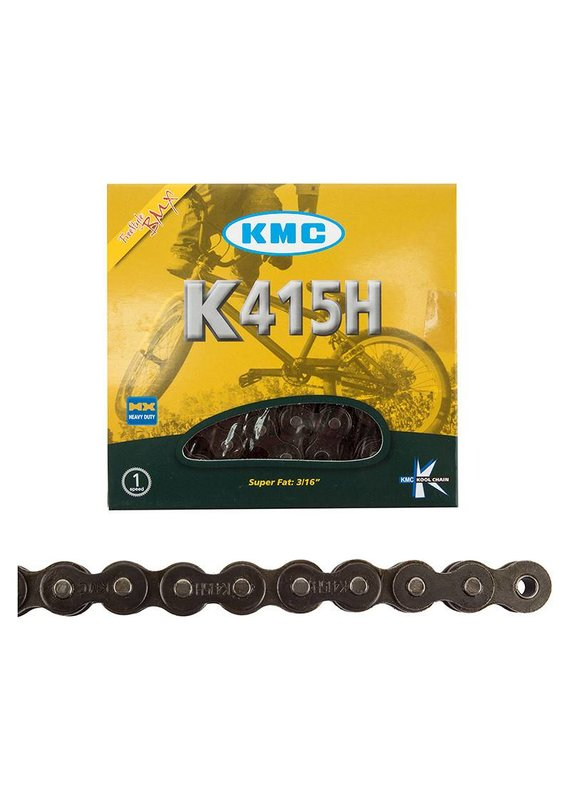 "KMC KMC BICYCLE CHAIN 415H Chain: 3/16"" 98 Links Black"