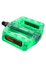 "BLACK OPS Black-OPS Gummy Translucent Pedals 1/2"" Green Strap Compatible"