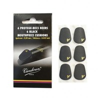 VMCX6 Mouthpiece Cushions 6-Pack - Black
