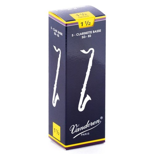 Vandoren Traditional Bass Clarinet Reeds - Box of 5