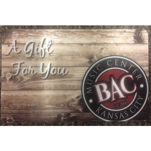 BAC Music Center Gift Card