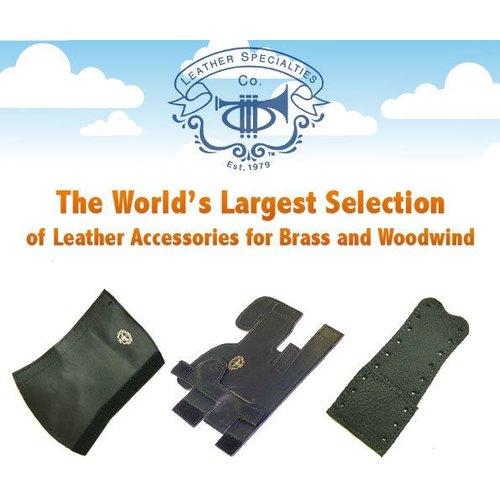 Leather Specialties Co King 2B,3B,4B,5B; Shires Tenor Med/Lrg Bore ROTOR Valve Guard - Velcro - Black