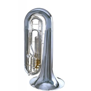 System Blue System Blue Professional Marching BBb Tuba SB50S - Silver Over Shoulder 4 Valve