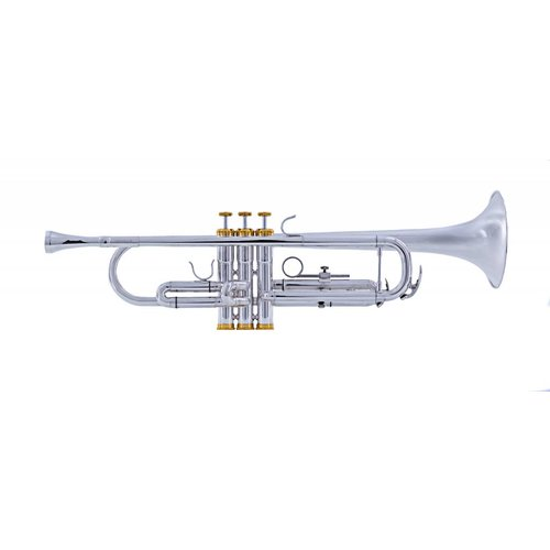 System Blue System Blue Traditional Marching Bb Trumpet  SB10S-LE - Silver