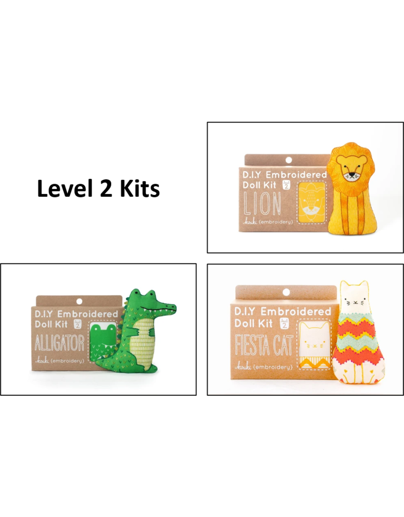 Kiriki Kiriki Embroidered Doll Kits