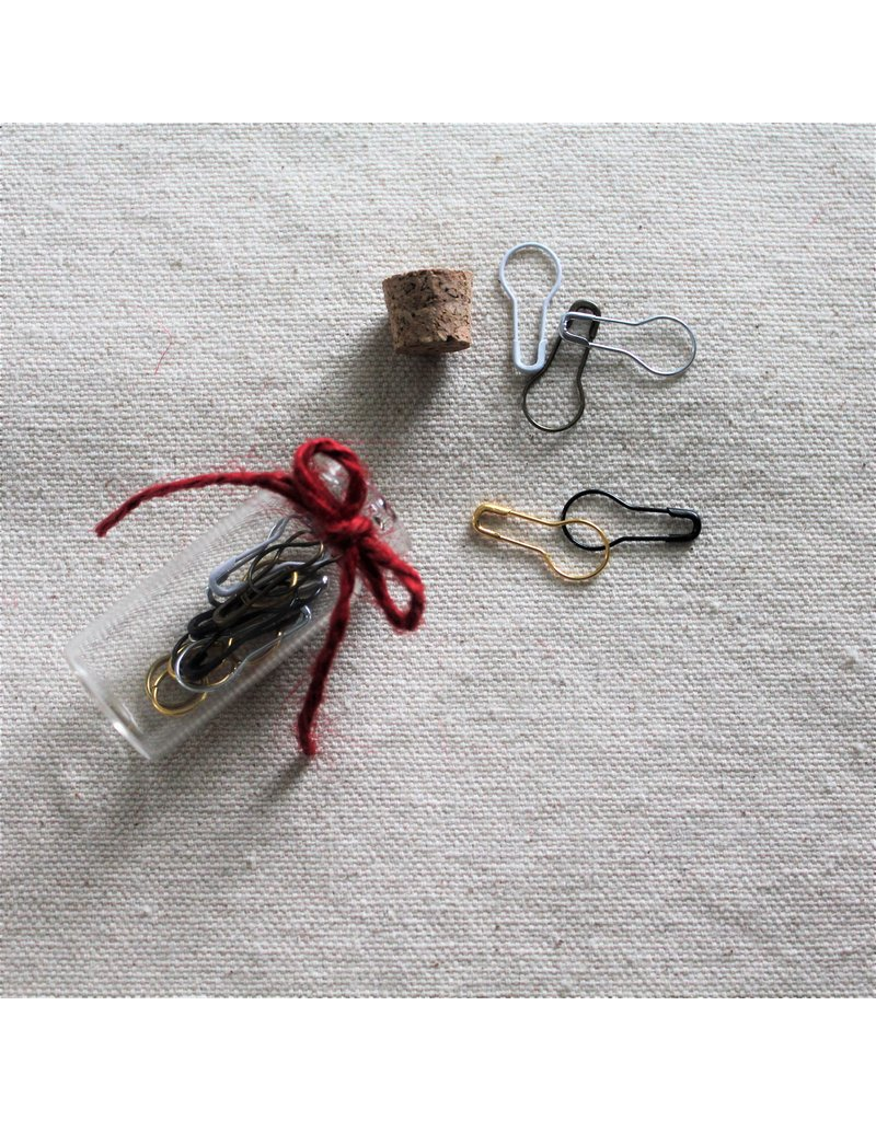 The Mariner's Daughter Bulb stitch markers - metallic