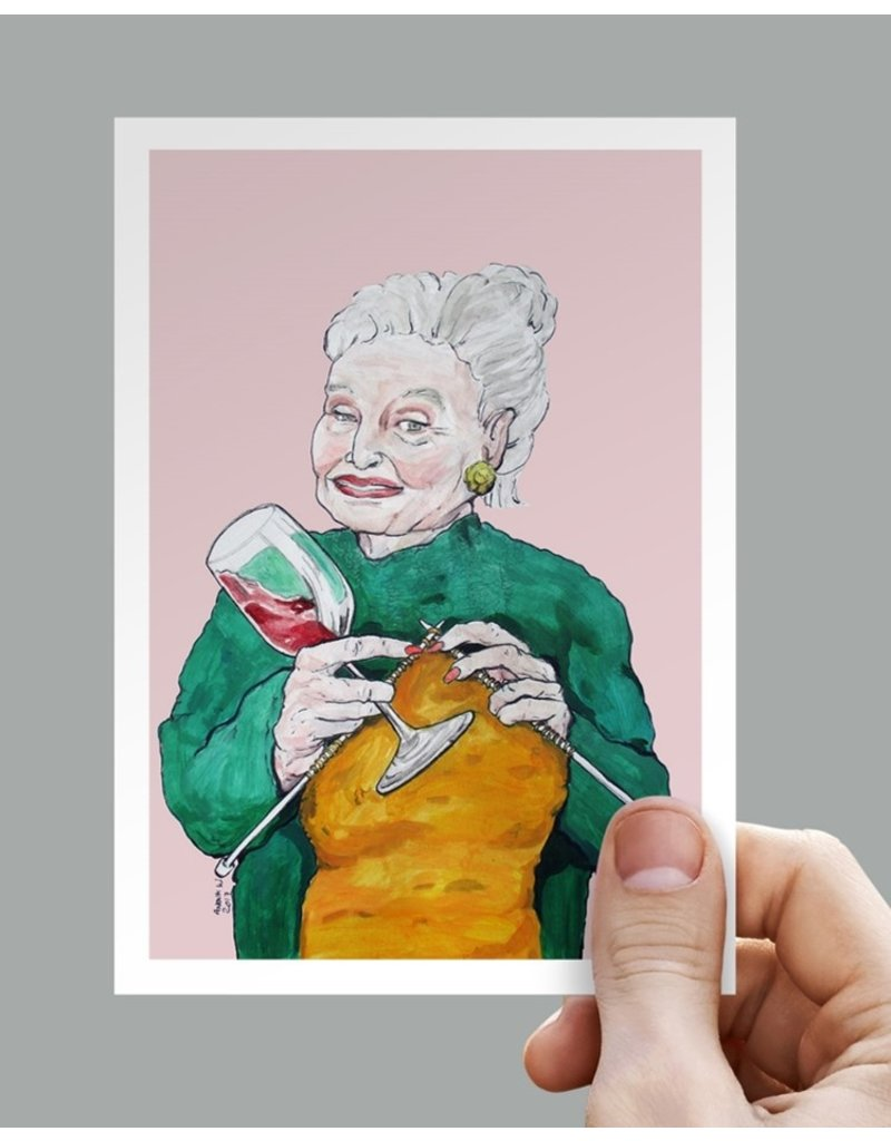 Anouk Greeting Cards woman