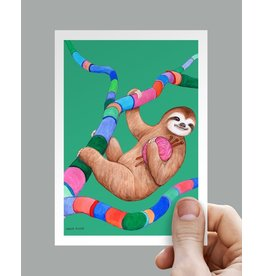 Anouk Greeting Cards Sloth