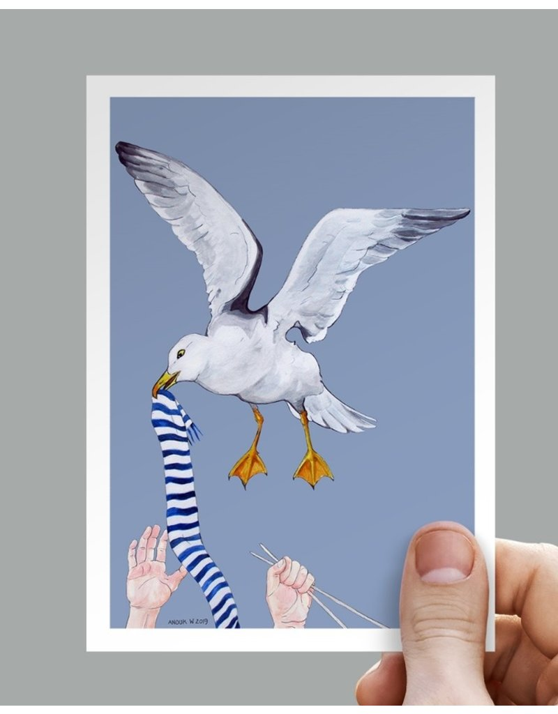 Anouk Greeting Cards Seagull