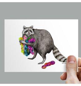 Anouk Greeting Cards Raccoon