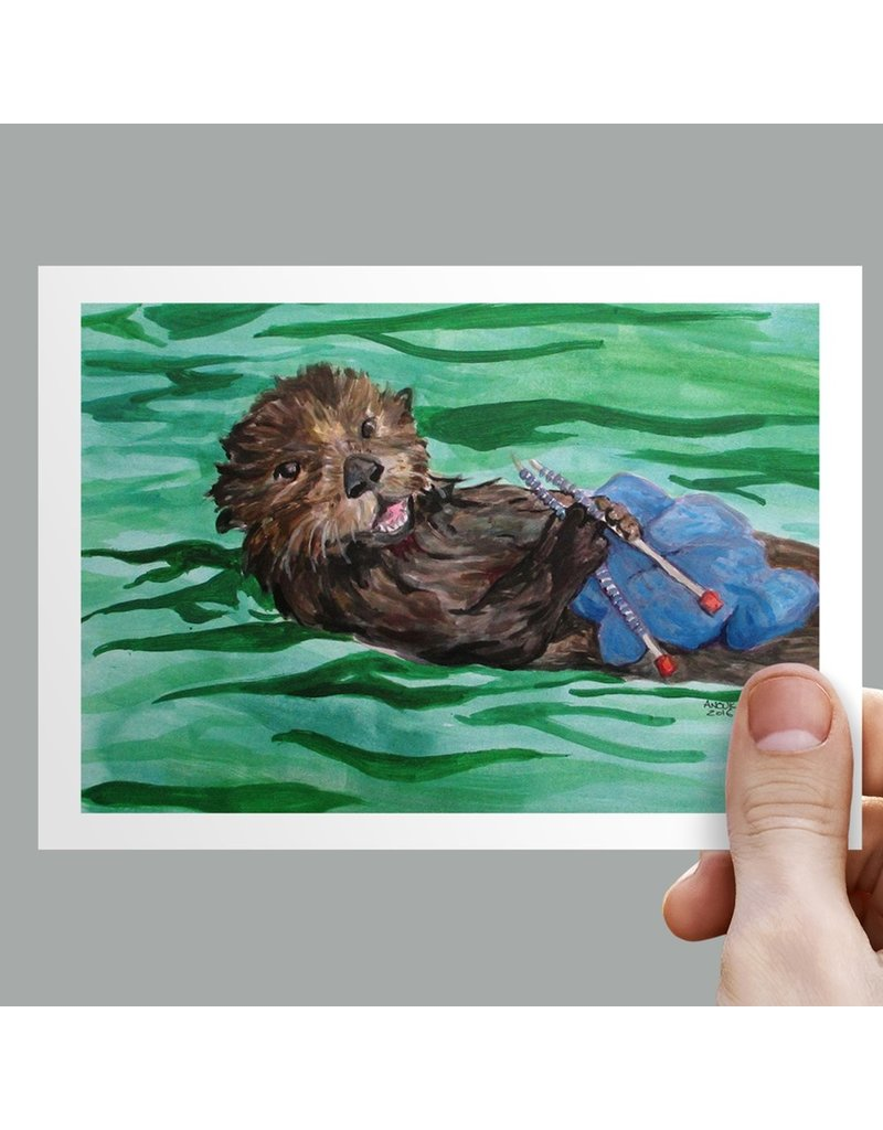 Anouk Greeting Cards Otter