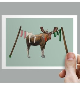 Anouk Greeting Cards Moose