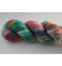 Wool You Dare Wool You Dare Sock 7 - Multicoloured, teals pinks, orange, and purple