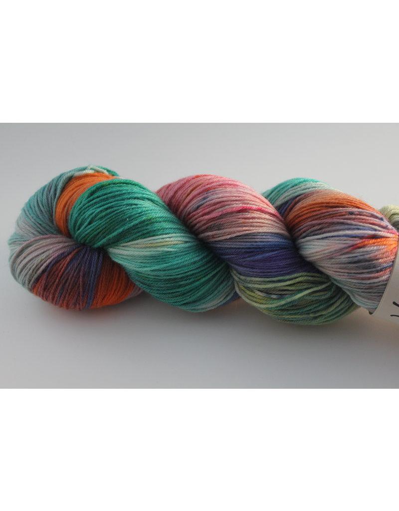 Wool You Dare Wool You Dare Sock 7 - Multicoloured, teals pinks, orange, and purple
