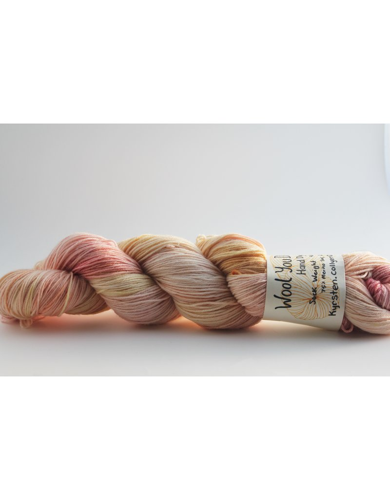 Wool You Dare Wool You Dare Sock 3  - Light peach with hint of yellow