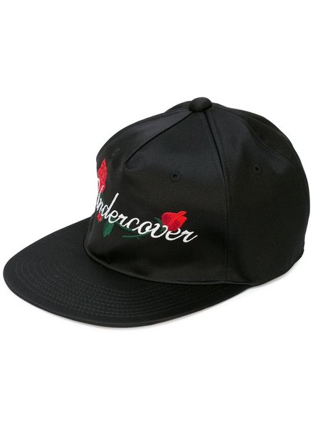 UNDERCOVER UNDERCOVER WOMEN FLOWER LOGO EMBROIDERIED HAT