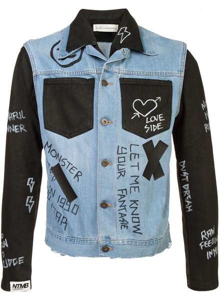 FAITH CONNEXION FAITH CONNEXION UNISEX COMBO DENIM JACKET