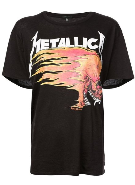 R13 R13 WOMEN METALLICA T-SHIRT