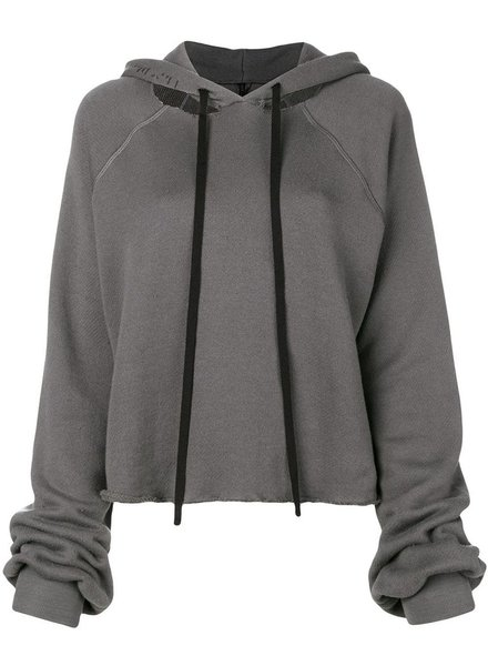 UNRAVEL PROJECT UNRAVEL WOMEN COT CASHMERE CUT HOODIE