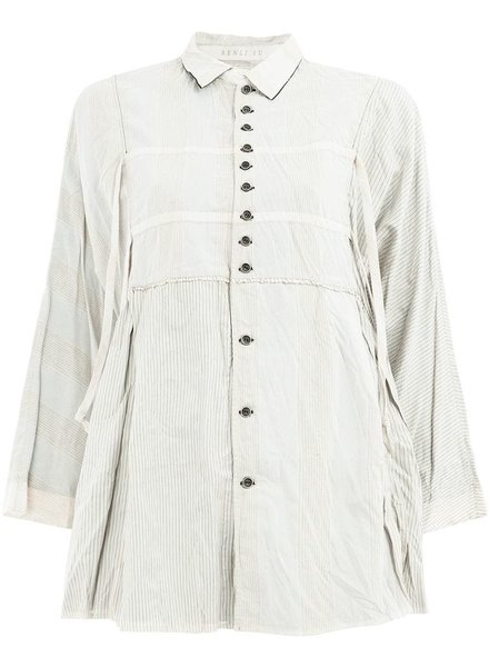RENLI SU RENLI SU WOMEN LOOSE FITTING SHIRT WITH HORIZONTAL RIBBON DETAIL