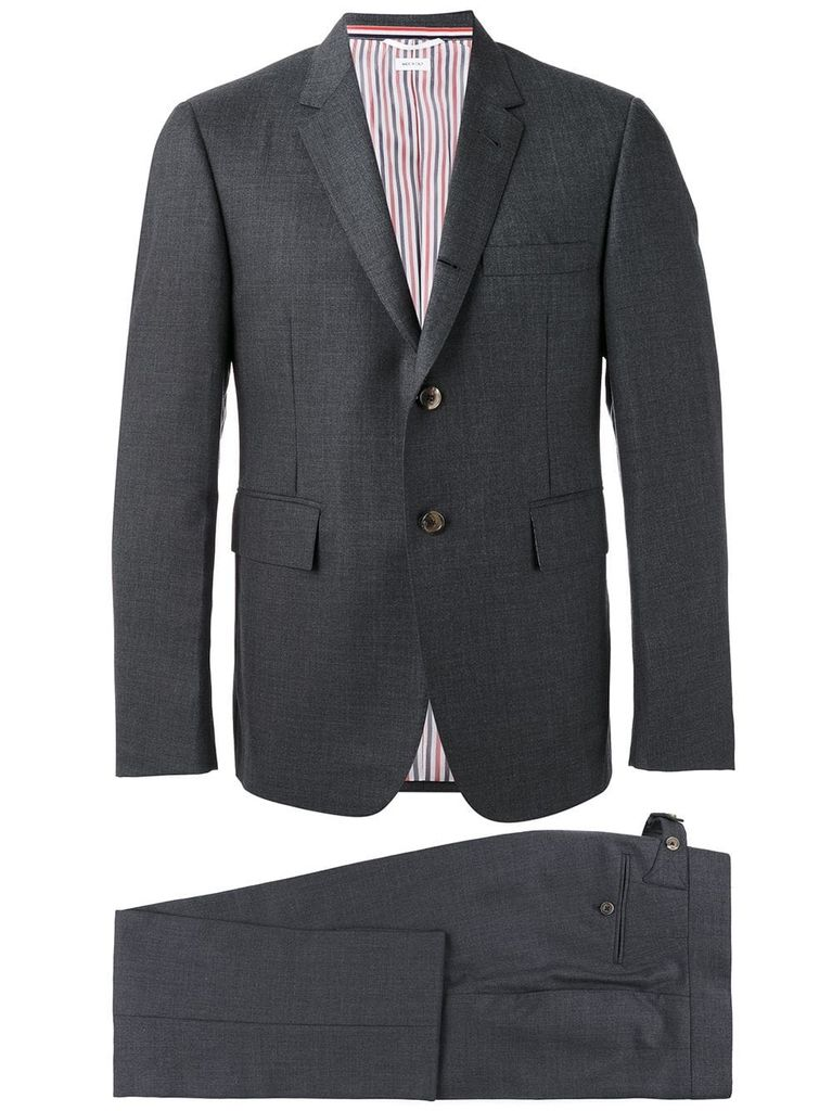 THOM BROWNE THOM BROWNE MEN CLASSIC SUIT SET WITH TIE IN SUPER 120'S TWILL