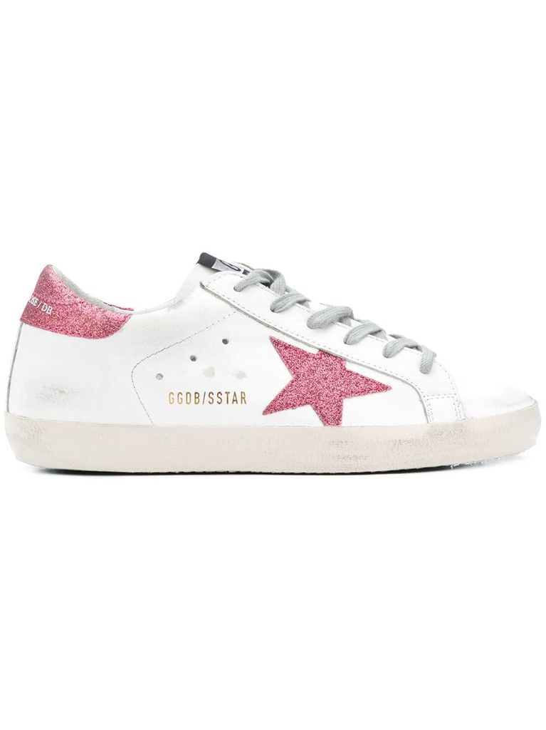 GOLDEN GOOSE GOLDEN GOOSE WOMEN SUPERSTAR SNEAKERS GLITTER
