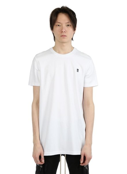 11 BY BORIS BIDJAN SABERI 11 BY BORIS BIDJAN SABERI MEN LOGO AND TYPE T-SHIRT