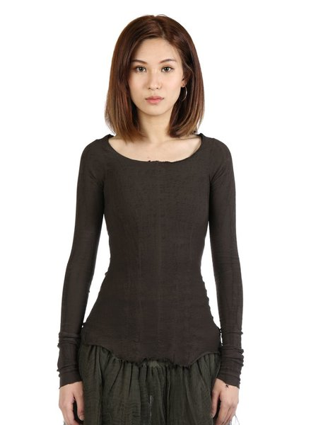 MARC LE BIHAN MARC LE BIHAN WOMEN LONG SLEEVES STRETCH TOP
