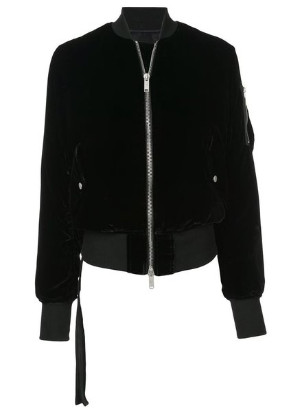UNRAVEL PROJECT UNRAVEL WOMEN VELVET BASIC BOMBER JACKET