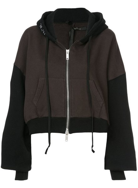 UNRAVEL PROJECT UNRAVEL WOMEN BRUSHED CHOPPED ZIP HOODIE