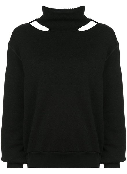 UNRAVEL PROJECT UNRAVEL WOMEN COTTON CASHMERE MOCK NECK SWEATER