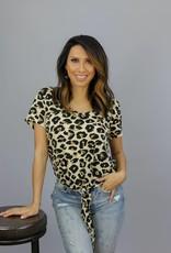 Ellison Calie  Leopard Tie Top