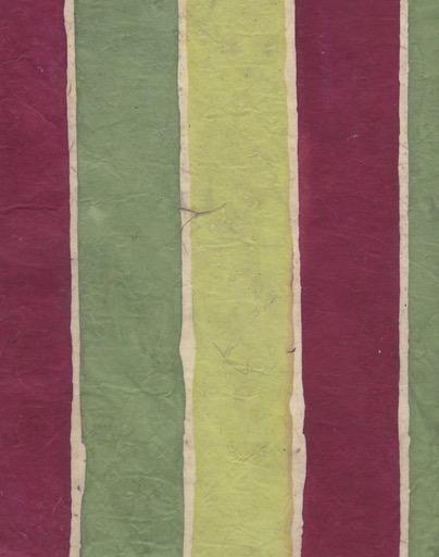 "Nepal Lokta Batik Stripes, Availabale in Various Colors, 20"" x 30"""